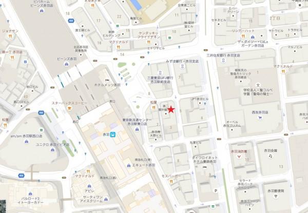 赤羽本サロキャッツアイ地図